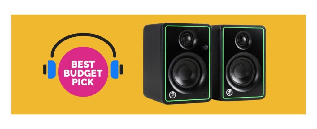 Best Budget Pick - Mackie CR-X Series 3-inch Multimedia Monitors (CR3-X)