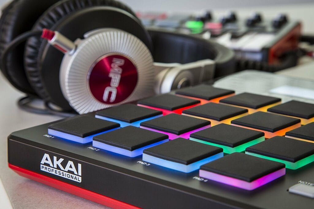 Akai MIDI Pad and MPC Headphones