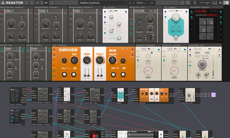Native Instruments Reaktor 6 Player interface